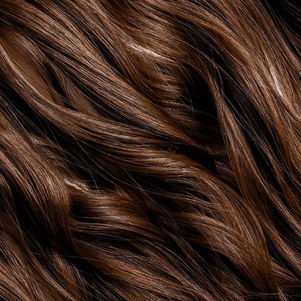 "Dark Brown Clip-In Hair Extensions 18"" 100g"