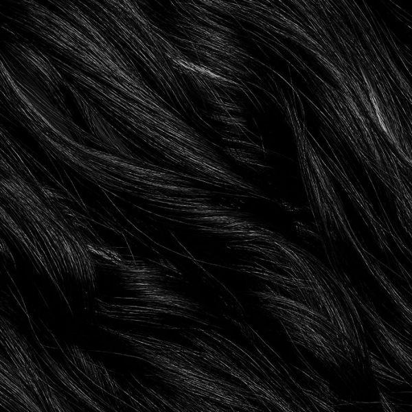 "Jet Black Stick Tip Hair Extensions 18"""